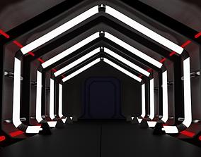 SCI-FI Corridor 3D Model FREE animated