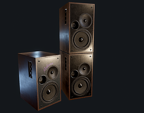 3D model Speakers Game-Ready PBR