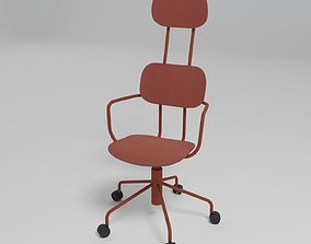 NEW SCHOOL - Swivel plywood office chair with armrests 3D