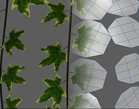3D asset realtime Lowpoly Ivy Vines