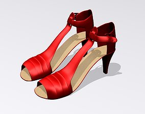 Red High Heel Shoes character 3D model