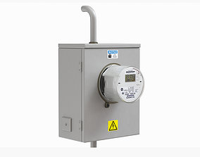 Exterior electric meter for house 3D