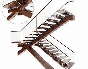 spiral rung Stairs 3D