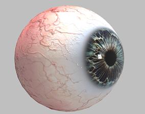 Photo-realistic Eye 3D model game-ready