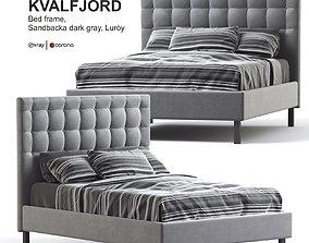 3D model Ikea KVALFJORD Bed frame