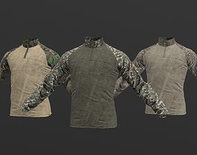 Mens Tactical Military Combat Shirt Low Poly 3D model