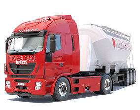 Iveco HiWay with silo 3D