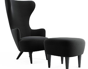 Wingback Chair Set by Tom Dixon 3D