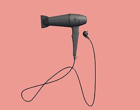 Hair Dryer 3D model game-ready