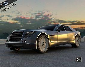 3D model Concept Custom SuperSport Car 2