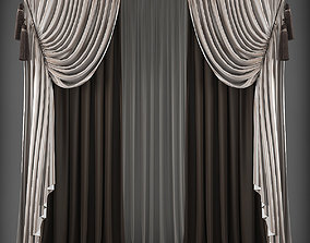 3D model low-poly textile Curtain