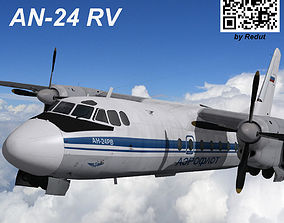 Antonov bureau AN-24RV 3D model