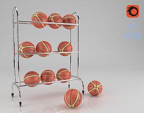 Basket ball support for ball 3D