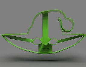 Baby Yoda Head Cookie Cutter X Mas 3D printable model