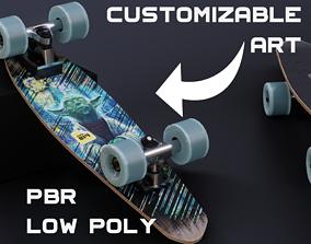3D asset Customizable Skateboard
