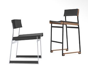TokenNYC Catenary chair and barstool 3D model
