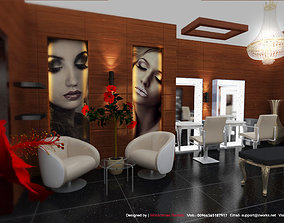 Beauty Salon Interior 3D Model