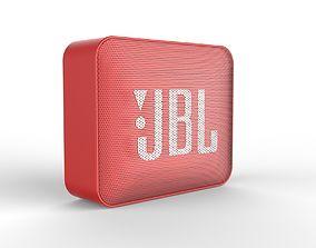 JBL GO2 RED SPEAKER -customizable speaker 3d model