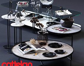 3D asset Cattelan Italia Coffee Tables Set 02