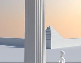 Greek Corinthian Column 3D model