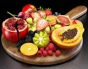 3D Fruits set 01