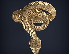 Snake Jewelry ring 3d print model