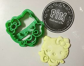 3D printable model Hello Kitty Cookie Cutter diy