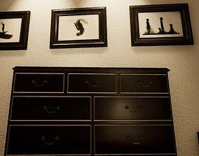 Wardrobe furniture wood 3D model