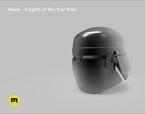 Heavy helmet - Knights of Ren - Star 3D printable model 1