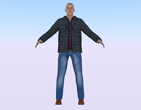 Human 3D asset rigged game-ready