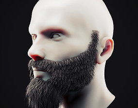 3D asset Beard Low Poly 13
