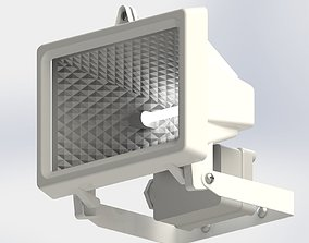 Flood Light and Movement Sensor 3D