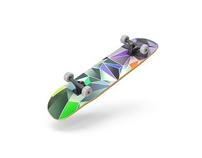 SkateBoard 3D asset realtime cruzer