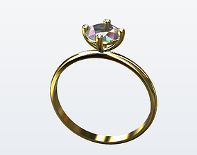 Solitaire Engagement Ring 3D model