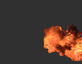 Houdini Heavy Fire asset file 3D model