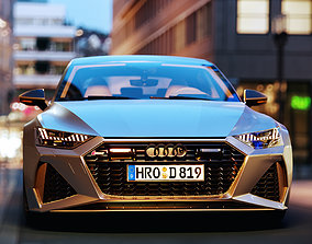 Audi RS7 Sportback 2020 3D model game-ready