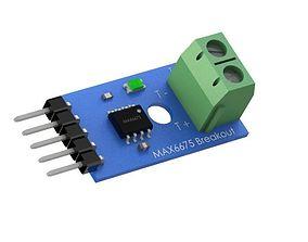 Module Board PCB MAX6675 Thermocouple 3D print model 2