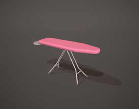 3D asset Plain Pink Ironing Board