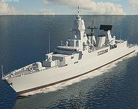 3D model Sachsen class frigate