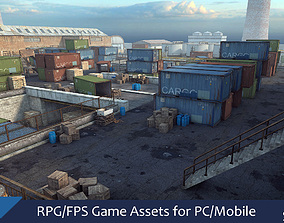 low-poly RPG FPS Game Assets for PC Mobile Industrial 1