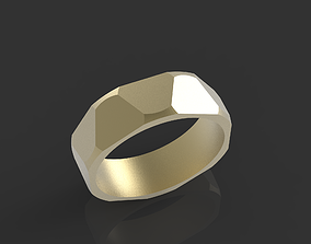 creative 3D print model male ring