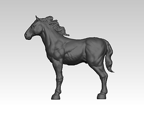 Horse statue highpoly 3D printable model