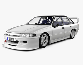 Holden Commodore Touring Car with HQ interior 3D model