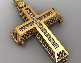 greek pendant cross 4 curch jesus 3D printable model 3