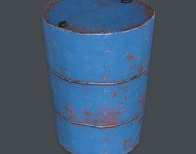 3D asset Metal Barrel VR PBR