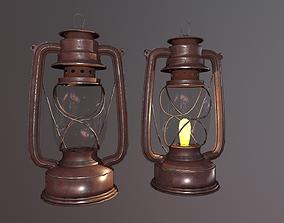 Oil Lamp 3D model realtime