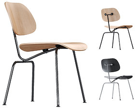 3D model Vitra Plywood Dining Chair Metal DCM