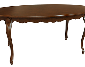 3D Classic wood table 1800