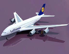 Texture for Lufthansa 3D Model Airbus A380