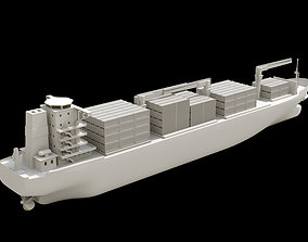 cargo-container container boat 3D